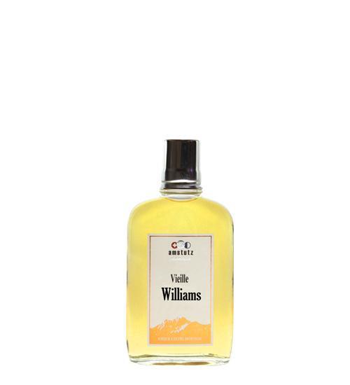 amstutz Edelbrand VIEILLE WILLIAMS Goldprämiert TASCHENFLAKON 20 cl / 36 % Schweiz