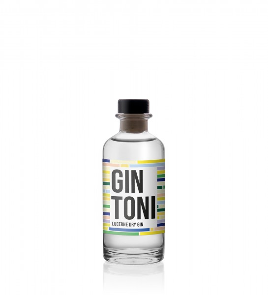 GIN TONI Lucerne Dry Gin KLEINFLASCHE 20 cl / 40 % Schweiz
