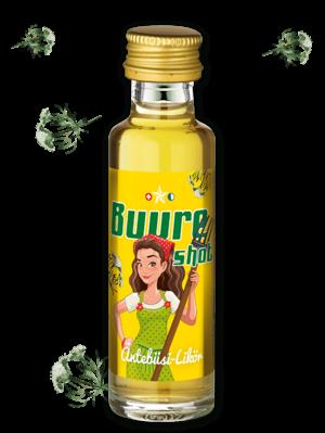 amstutz BUURESHOT Äntebüssi-Likör 2 cl / 22 % Schweiz